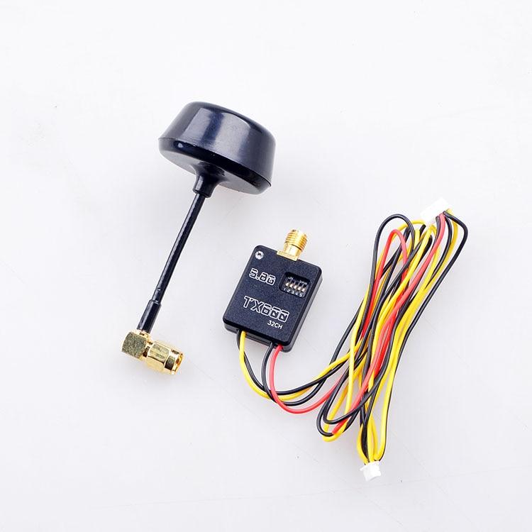 F11649 CNC Case 5.8G 32ch 600mw Super Mini AV Transmitter TX Telemetry &amp; Mushroom Antenna for  Phantom2 H3-3D Iosd FPV FS<br>