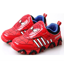 Children Shoes spider man Boy Girls Sneakers Brand Kids Sport Shoes Girls Boy Casual Shoes Flats black blue pink tx0412(China)