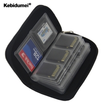 kebidumei Memory Card Cases SDHC MMC CF for Micro SD Card TF Cards Memory Stick Storage Bag Carrying Pouch Protector(China)