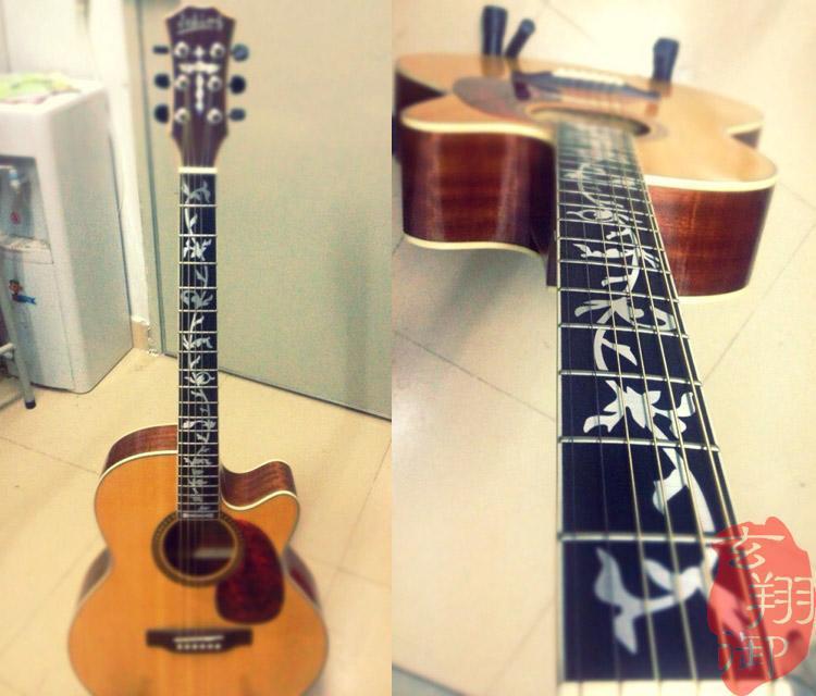 Надпись на грифе гитары своими руками 85