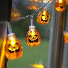 2017 NEW 10LED Pumpkin String Lights For Halloween Party Decor Halloween String Light 728(China)