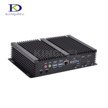New model Fanless PC HTPC Intel Core i3 4010U/i3 5005U/ i5 4200U/i7 5550U Dual Core HDMI WIFI VGA 2*COM rs232 Mini industrial PC