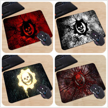 Black Mouse Mat For PC Loptop Computer Keyboard Gamer Pad Gears of War Skull Custom Design Mouse Pads Computer Gaming Mousemats