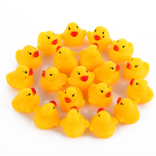 10pcs/lot Cute Lovely Baby Kids Squeaky Rubber Ducks Bath Toys Children Water Swimming Fun Playing Toy for Newborn Boys Girls