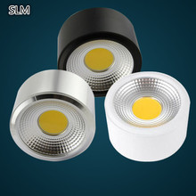AC90-260V LED surface mounted COB downlight COB thin ceiling spot lights backdrop lights without opening round spot lamp