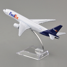 16CM Long Brand New 1/400 Scale Airplane Models Fedex Boeing B777 Diecast Metal Plane Model Toys Collections and Displays(China)