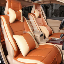 Buy Luxury 5 seats 4 color universal car seat cushion sets Memory foam PVC leather auto accessories sets car seat covers 10PCS/set for $379.00 in AliExpress store