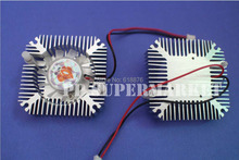 Free shipping ! 10pcs Aluminum Heatsink with fan for 5W/10W LED light Cooling Cooler DC12V(China)
