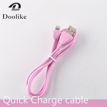 Fast Charge Pink Black White Cable Micro USB Cabo Charging Wire Kablo Short Fast Charge 2.0 for Iphone 5 6 S 7 SE