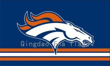 3x5ft Orange White Line Denver Broncos Flag with Grommets(China)