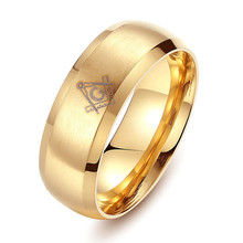 Masonic Ring Titanium Ring Men Brother