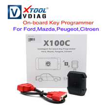 Original XTOOL X100C x100 c Auto Key Programmer for Ford/Mazda/Peugeot/Citroen 4 in 1 pin code reader better than F100 F108 F102(China)