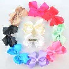 4.3inches Large Ribbon Hair Bows Alligator Clips Girls Boutique Bows Mint Tan NEON GREEN NEON ROSE