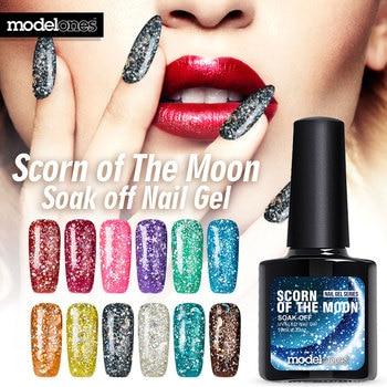Modelones 1pcs Soak off Gel Polish Glitter Nail Gel 10ml New Arrival 3D Glitter LUCKY UV Gel Nail Art Pick 1 Color