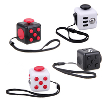 Original Antistress Fidget Cube Anxiety Stress Relieve Toy Kids Children Adults A Vinyl Desk Toy Christmas Gift 4 Colors(China)