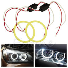 1pc COB 80mm LED Car Angel Eye Halo Ring Bulbs Decoration Light Rings White