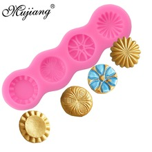 Mujiang Sugarcraft Button Gems Silicone Fondant Molds Cake Decorating Tools Candy Clay Chocolate Gumpaste Moulds CD322