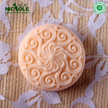 Nicole R0268 Round Silicone Soap Molds,Handmade Silicone Natural Round Soap Molds,Jelly Pudding Molds