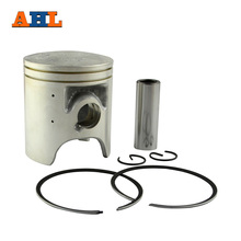 AHL Bore Size STD 56.4 mm/ +25 56.65mm/ +50 56.9 mm Motorcycle Piston & Ring & Clip Kit For YAMAHA TZR125 R1-Z DT125R(China)