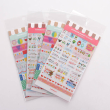 Hot Transparent Simple Little People Stickers Creative Cute Photo Album Book Diary Decorative Stickers Party Favors 6 sheets/set