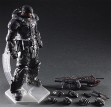 Play Arts Marcus Fenix Game Gears of War 3 War Machine PA Play Arts Kai 27cm PVC Action Figure Doll Toys