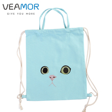 Travel Shoulders Backpack Girls Shoes Bags Pink Green Grey Cat Multifunctional Portable Drawstring Schoolbags Storage Bags B1233