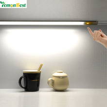 LemonBest 30cm Portable Stepless Dimmer Touch Control USB LED Night Light Cool/Warm Unlimited Dimmable Wall Lamp for Desk Closet