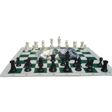Deskland Chess Set with Chessboard 35x35cm Table Games International Chess Plastic Chessman King 64mm 32 Pcs/Set Family Game