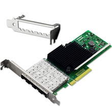 PCI-Express X4 Quad Port 10GbE Fiber Ethernet Server Card Chipset for X710(China)