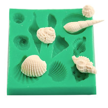 silicone 3d seashell beach shells cake molds chocolate mould decoration diy tool