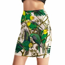 NEW Arrival 0023 Sexy Girl Women Summer Bird green parrot 3D Prints Skater Miniskirt Evening Sexy Mini Tight Skirt