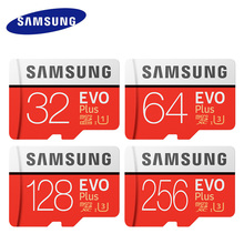Original SAMSUNG Micro SD card 32GB 64GB Class 10 Memory Card EVO+ EVO Plus microSD 128GB 256GB TF Card SDXC cartao de memoria(China)