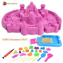 Hot sale High Quality 1000g Dynamic Magic Sand and 50pcs mold tools Amazing DIY educational toys No-mess Indoor toys for Chilren