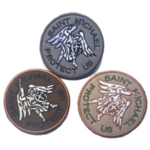 Guardian angel St. Michael protection embroidery tactical military patches badges stickers Hook/Loop 8CM