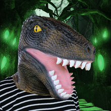 Scary Halloween Crocodile Latex Adult Mask Alligator Cosplay Full Face Horror Masquerade Ghost Fancy Ball Party Animal Mask(China)