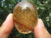only one!!!!     51g(255 ct) Natural Hair Rutilated Quartz Crystal Pendant Cab China YARC003