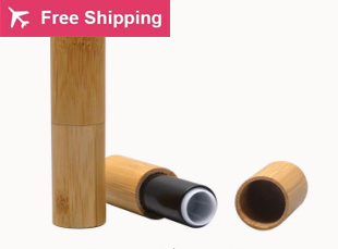 Free shipping high quality 12.1mm 20/60/100pcs / lot  bamboo lipstick tube/lipstick container/bottle ( black )<br>
