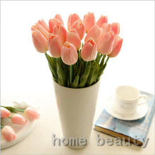 20PCS/LOT tulip fake flower party wedding flower artificial flower silk flower home decoration real touch FH237