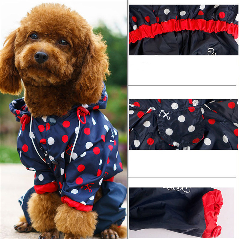 Pet Dog Raincoat for Small Medium Dogs Waterproof Rain Coat Outdoor Clothes Dog Jacket Puppy Teddy Outfits Dog Clothes 2