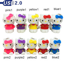 hello kitty usb flash drive cute cartoon cat usb pen drive 64gb 32gb u disk 16gb 8gb 4gb flash memory usb 2.0 pendrive stick(China)