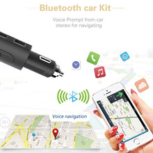 LCD Car MP3 FM Transmitter Bluetooth USB Charger Handsfree Kit For Xiaomi Roidmi Samsung iPhone 7 BMW E46 Ford Focus Car Styling(China)