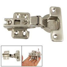 Hot Sale Silver Tone BuffeRing Half Overlay Hinge For CabInet Door(China)