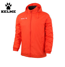 Kelme Men's Stand Collar Waterproof Raincoats Hooded Jacket K15S604 Orange(China)