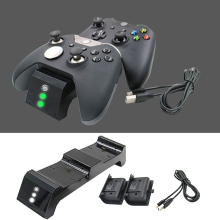 3 in 1 Dual Wireless Controller Charger Charging Station with Battery Pack USB Cable for Xbox One S Elite Wireless Controllers