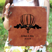 Heart Balloons Wedding Guest Book, Wood Engraved Guestbook, Laser Cut Album, Rustic, Wedding Guestbook Album, Advice Book, Recip(China)