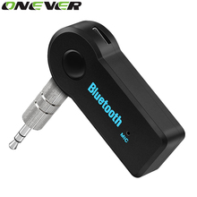 Onever 3.5mm Streaming Car A2DP Bluetooth Car Kit Audio Music Receiver Adapter Handsfree With Mic For Speaker Headphone