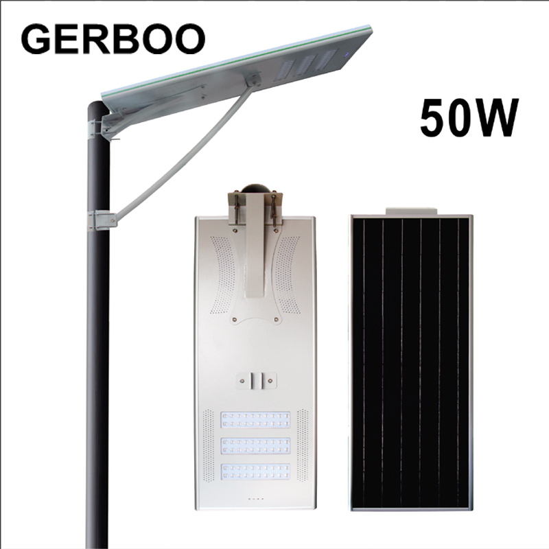 Bridgelux LED Light Source and IP65 IP Rating outdoor led solar street light 50W(China)
