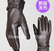 Vintage Women Genuine Goat leather gloves skin gloves LEATHER GLOVES #3118