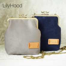 2017 Handmade Faux Suede Leather Shoulder Bag Plain Nubuck Simple Retro Victorian Shabby Chic Small Cell Phone Messenger Bag