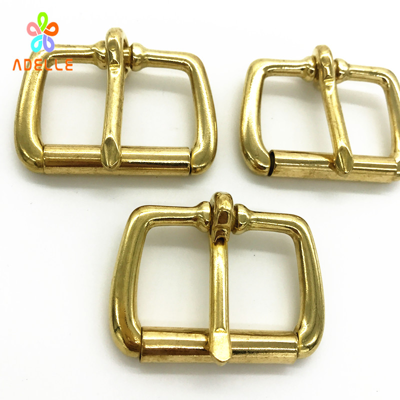 5pcs Solid Brass Pin Buckle Roller 13/16/20/22/25/29/32/38mm Leather belt Strap Spare Replacement snap Hardware free
